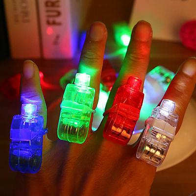 10PCS Finger  LED Laser Finger Ring Lights Beam Torch Party Decor Supplies Hot