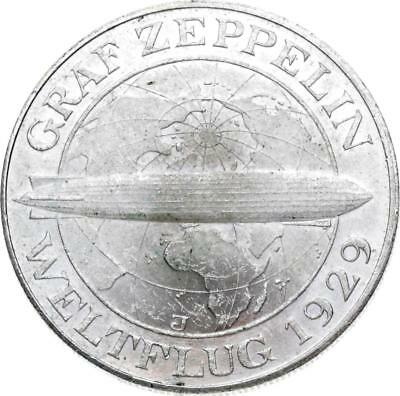 Weimarer Republik - 5 Mark 1930 J - Zeppelin