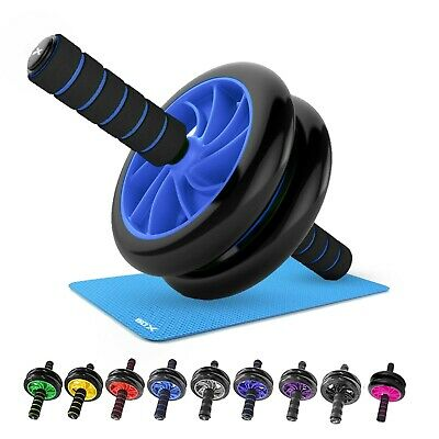 Abs Wheel dual Exercise Roller Abdominal Gym Home Training Body Fitness Slim Mat