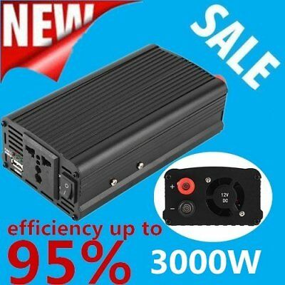 3000W/4000 Watt Peak Power Inverter DC 12V to AC 110V for Car Truck RV Pickup Q9