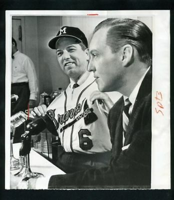 790017229900 BOBBY BRAGAN Named Braves Manager 1962 Milwaukee Braves Vintage News Wire  Photo