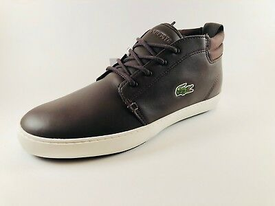 904dc8e0882 Baskets Lacoste Homme Ampthill Terra Brown Leather - Chaussures Lacoste  Homme
