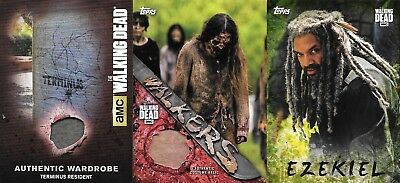 The Walking Dead Topps Season 7 Ezekiel Mold Ssp /25 Walker Relic Terminus Lot!