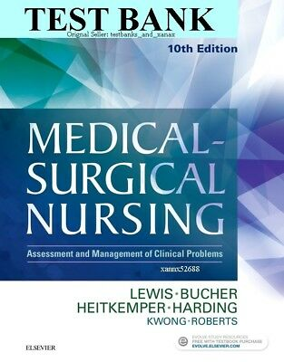 | TEST BANK | Medical Surgical Nursing 10th Edition Lewis -Not Book- *READ NOTE*