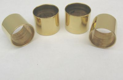 4  PLAIN BRASS COLLARS FOR WALKING STICKS -  22mm,  23mm, 24mm  & 25 mm sizes