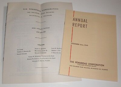 Pennroad Corporation Investment Company 1949 Vintage Annual Report