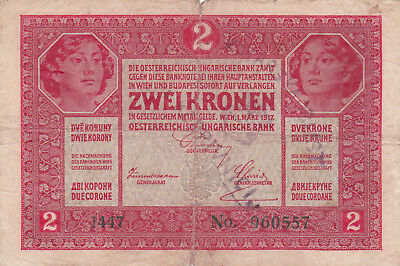 2 Korona/kronen Vg Note1919 With A Stamp From Shs Kingdom!!!!