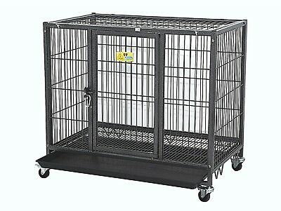 """42""""/ 29"""" Heavy Duty Dog Cage Kennel Crate Collapsible Easy Install"""