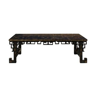 Chinese Lacquered Song Ming Style Low Kang Table Zither Stand cs4631