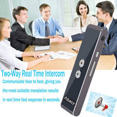 Aibecy Smart Voice Translator Two-Way Real Time Multi-Language Translation F6W9