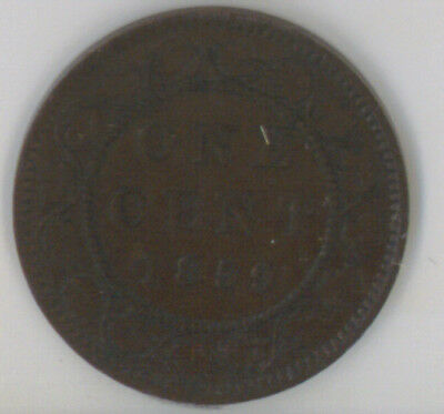 Canada 1859 One Cent ICCS Certified VF-30 Queen Victoria
