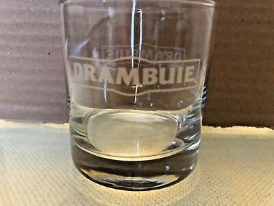 DRAMBUIE SCOTCH WHISKEY ROCKS ETCHED DRINKING GLASSES Set of 6 New