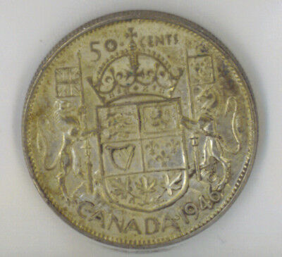 Canada 1946 50 Fifty Cents ICCS Certified EF-45 King George VI