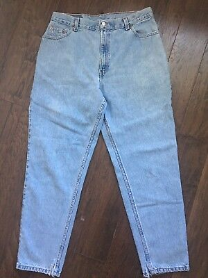 d434e181 Vintage Levi's 550 High Waist Relaxed Fit Tapered Leg Size 16 M Mom Jeans  Denim