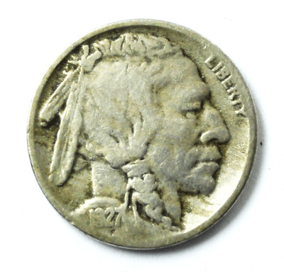 1927 S 5c Buffalo Nickel Five Cents San Francisco Rare