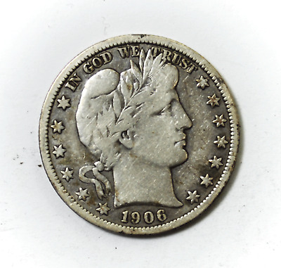 1906 O 50c Barber Silver Half Dollar Fifty Cents New Orleans