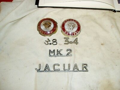 Used Jaguar MK2 Motifs & Bonnet Badges.