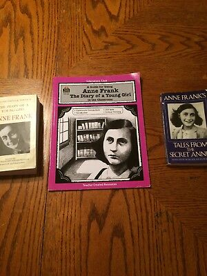 Diary Of Anne Frank Lot Literature Unit Tales From The Secret Annex