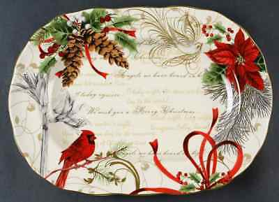 """222 Fifth HOLIDAY WISHES 14"""" Oval Serving Platter 8928130"""