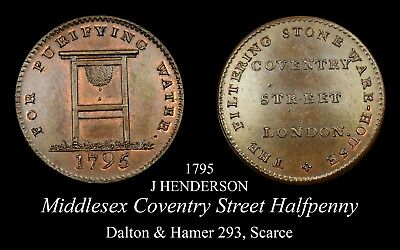 Middlesex Coventry Street Conder Halfpenny D&H 293, Scarce