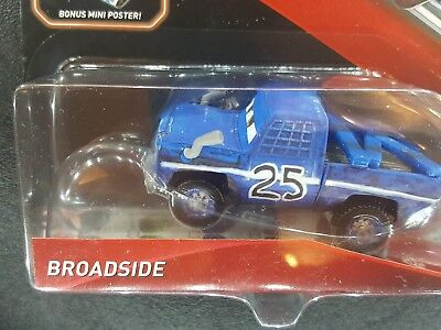DISNEY PIXAR CARS 3 ROSCOE WITH POSTER CRAZY EIGHT DERBY