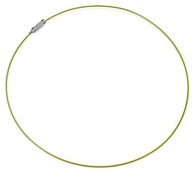 Stainless steel Olive Wire Choker Long Necklace 16 inch