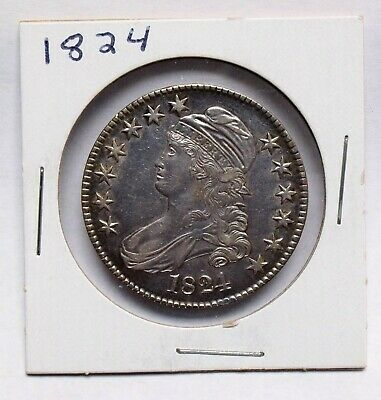 1824 Capped Bust Half Dollar Us Coins Us Paper Money