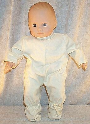 """Doll Clothes Baby Made 2 Fit American Girl 15"""" inch Bitty Pajamas Yellow Sleeper"""