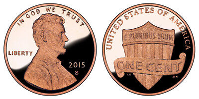 2015 S GEM BU PROOF Lincoln SHIELD CENT BRILLIANT UNCIRCULATED PENNY US COIN PF