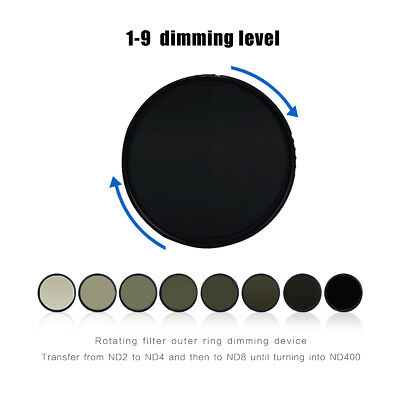 Zomei ABS Adjustable 82mm Filter MC-ND Variable ND2 To ND400 Fader Lens Filter