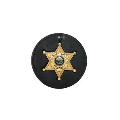 Boston Leather 600-5011 Recessed Circle Badge Holder Feature Hard Leather