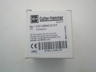CUTLER-HAMMER  CONTACTOR  4 KW COIL VOLTAGE 24V ac CE12BNC310T