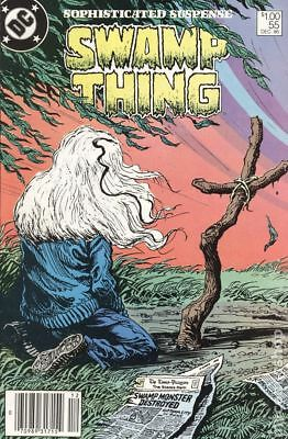 Swamp Thing (2nd Series) Canadian Price Variant #55 1986 FN Stock Image