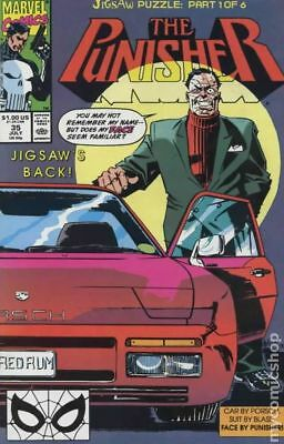 Punisher (2nd Series) #35 1990 FN Stock Image