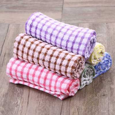 Tea Towels Terry Cotton Kitchen Dish Cloths Large Cleaning Check Wash Supply