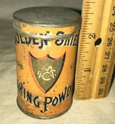 Antique Free Sample Golden Shield Baking Powder Tin Vintage Fairport Ny Can Food