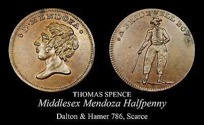 Middlesex Spence Conder Halfpenny D&H 786, Very scarce Mendoza!