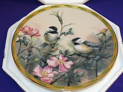 Lenox Fine Ivory China Collectors Plate Rose Morning Natures Collage Birds