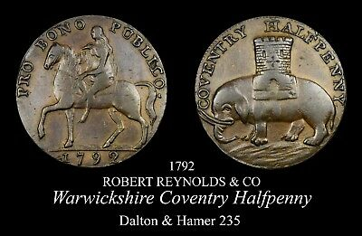 1792 Warwickshire Coventry Conder Halfpenny D&H 235