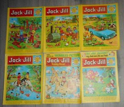 Lot Of 6 Jack And Jill Comics , 1973 To 1977,