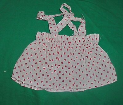 1940S 1950S VINTAGE  DOLL CLOTHES Red White Polka Dot Jumper Dress