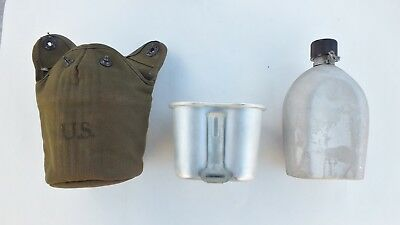 WW2 US Army Canteen Cover Cup Set 1945 Rare Condition, Near Mint