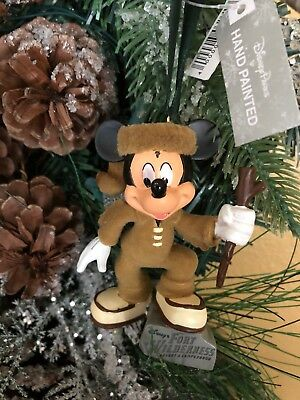 Disney World Christmas Ornament Fort Wilderness Mickey Mouse New with Tags