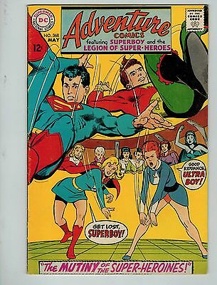 Adventure Comics #368 (May 1968, DC) VF 8.0+ Superboy and the Legion!!