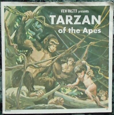 3 View-Master 3D Bildscheiben - Tarzan Of The Apes + Booklet
