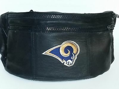 NFL Los Angeles Rams Leather Fanny Pack - Waist Pouch, NEW