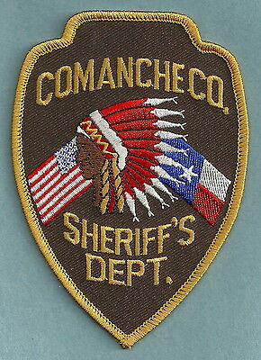 Comanche County Sheriff Texas Police Patch Indian