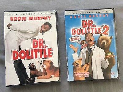 Dr. Dolittle 1 & 2 NEW DVDs 2 PACK Full Screen Eddie Murphy Funny FREE SHIPPING