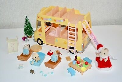 Sylvanian Families Nursery Bus with Figures and Extras.