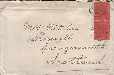 Hong Kong - Shanghai 1896 Cover & Letters On Board S.s. Kutwo